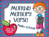Monthly Memory Verse: Psalm 119:105