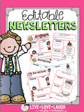 Monthly Newsletters {Editable with and without Headers}