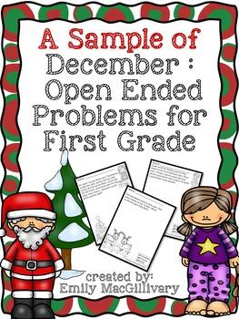 Monthly Open Ended Problems - December Sampler