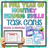 Monthly Reading Skills and Enrichment Task Cards FULL YEAR BUNDLE