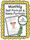 Monthly Self-Portrait and Name Portfolio