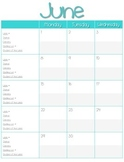 Monthly Teacher Planner Calendar 2015-2016 {Moore Public S