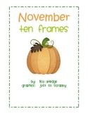 Monthly Ten Frames--November pumpkins