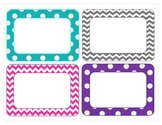 More chevron and polka dot classroom labels