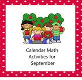 Morning Calendar Smartboard Activities September