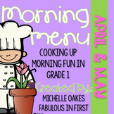 Morning Work: Morning Menu for Apr. and May