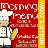 Morning Work: Morning Menu for Aug. and Sept.