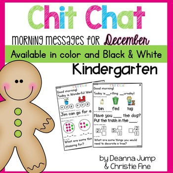 Morning Messages: Chit Chat December NO PREP