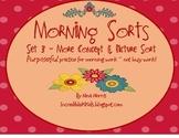 Morning Sorts - Set 3 - More Concepts