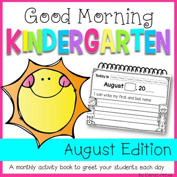 Morning Work {Good Morning Kindergarten} AUGUST