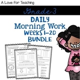 Morning Work Weeks 1-20 Bundle