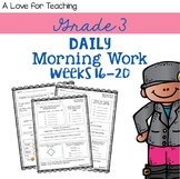 Morning Work Weeks 16-20