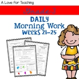 Morning Work Weeks 21-25