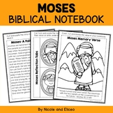 Moses Bible Unit (text, memory verse & activities)