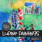 Mother's Day Flower Art: Kindergarten Lupine Painting