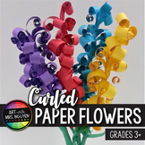 Mother's Day Flower Art: Curled Paper Flower Sculpture *Tu