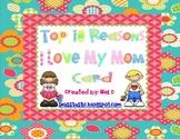 Mother's Day Top Ten  Craftivity