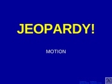 Motion and Speed Jeopardy review game PowerPoint