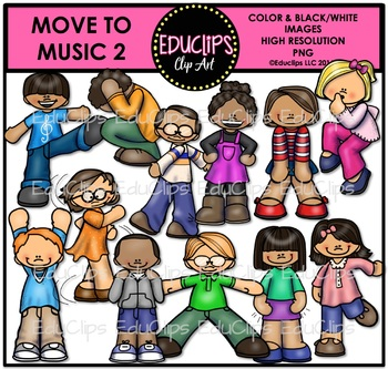 Move To Music 2 Clip Art Bundle