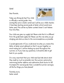 Moving Up Day Letter to Parents