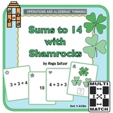 Multi-Match Cards 1A: Sums to 14 with Shamrocks