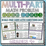 Multi-Part Math Problems Task Cards { Performance Based Tasks }