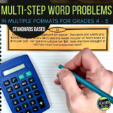 Multi-Step Common Core Word Problem Collection: Grade 4-5