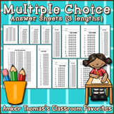 Multiple Choice Answer Sheet Templates {3 lengths}