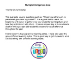 Multiple Intelligences-Learning Styles Quiz