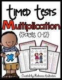 Multiplication 1 Minute Timed Tests 0-12 Print N' Go