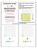 Multiplication Array Cards - 1 - 10