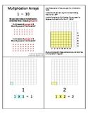 Multiplication Array Cards - 1 - 10