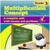 Multiplication Concept - grade 3, common core