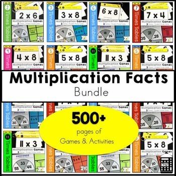 Multiplication Facts Growing Bundle