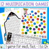 Multiplication Game Pack - a set of 12 games