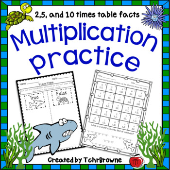Multiplication Practice - 2,5,10 times tables