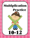 Multiplication Practice Book (10, 11, 12)