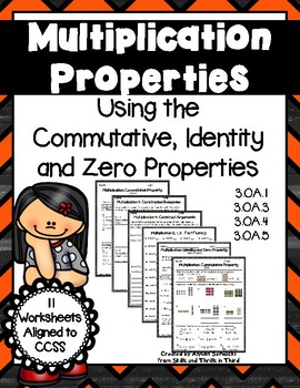 Multiplication Properties: Commutative, Identity, and Zero
