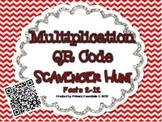 Multiplication QR Code Scavenger Hunt Facts 2-12