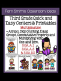Multiplication Quick and Easy Center and Printables for Th