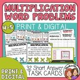 Multiplication Word Problem Task Cards: 32 Multi-Digit Mat