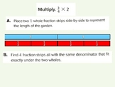 Multiply Fractions and Whole Numbers Using Models for Visu