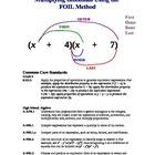 Multiplying Binomials and Factoring Trinomials Unit Plan