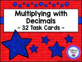 Multiplying Decimals Task Card Set - Patriotic Theme