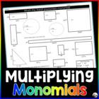 Polynomial Multiplication Activity: Monomials {exponent ru