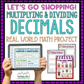 Multiplying and Dividing Decimals Let's Go Shopping Activity Pack *Common Core*