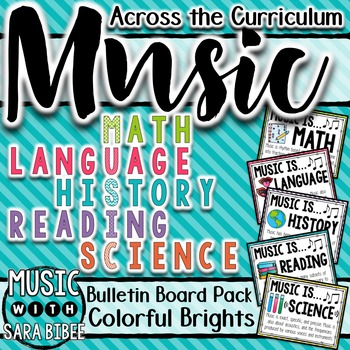 Music Advocacy: Why Learn Music? Music Across the Curriculum Posters