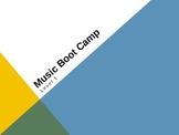 """Music Boot Camp"" Level 1 Music Theory Power Point"