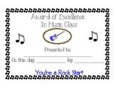 Music Class Rock Star Award