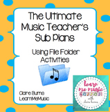 Music File Folder Sub Plan